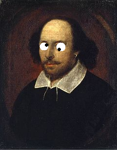 Shakespeare with googly eyes