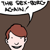 "The phrase ""Sex-Borg"" is copyrighted by Gene Roddenberry."