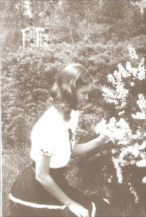 Sylvia Plath - Wellesley, Massachusetts garden - 1947, about age 14