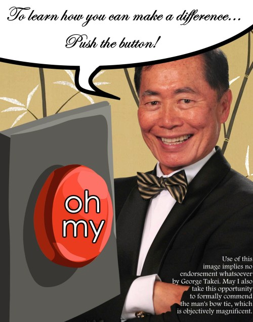 George Takei + button